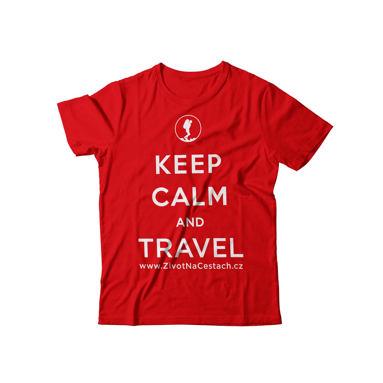 Tričko Keep Calm and Travel – Život na cestách