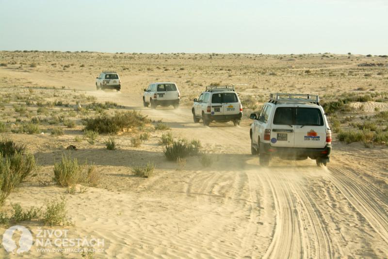 Fotoreport z cesty napříč Tuniskem – Výlet do Sahary spojený s pozorováním západu slunce.