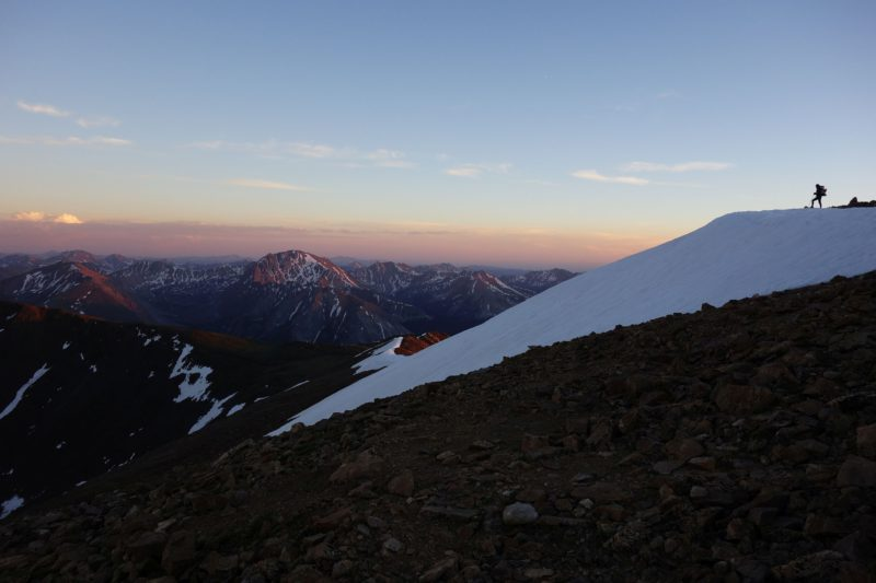 Continental Divide Trail: západ slunce na Mt. Elbert