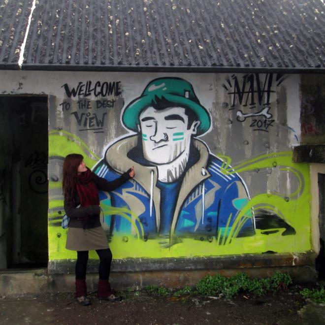 Graffiti na střeše Monte Palace