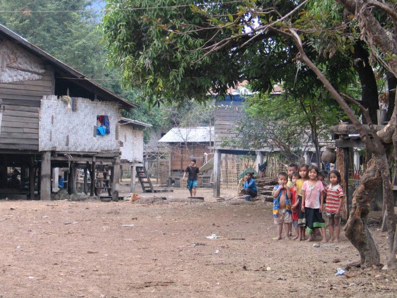Vesnice poblíž Thakhek.