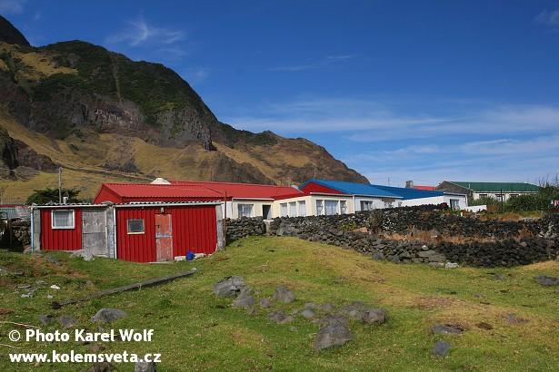 Vesnička na ostrově Tristan da Cunha