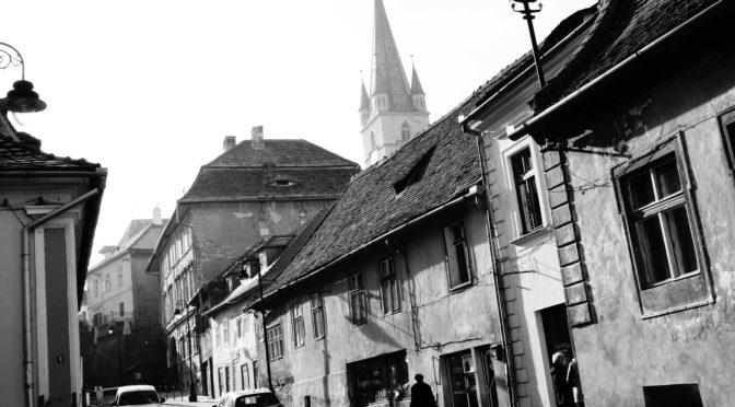 Sibiu, ve stínu Brašova a pohoří Fagaraš, Rumunsko