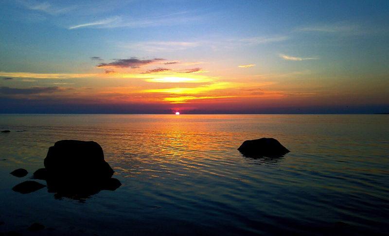 Východ slunce nad nejsevernějším bodem Estonska