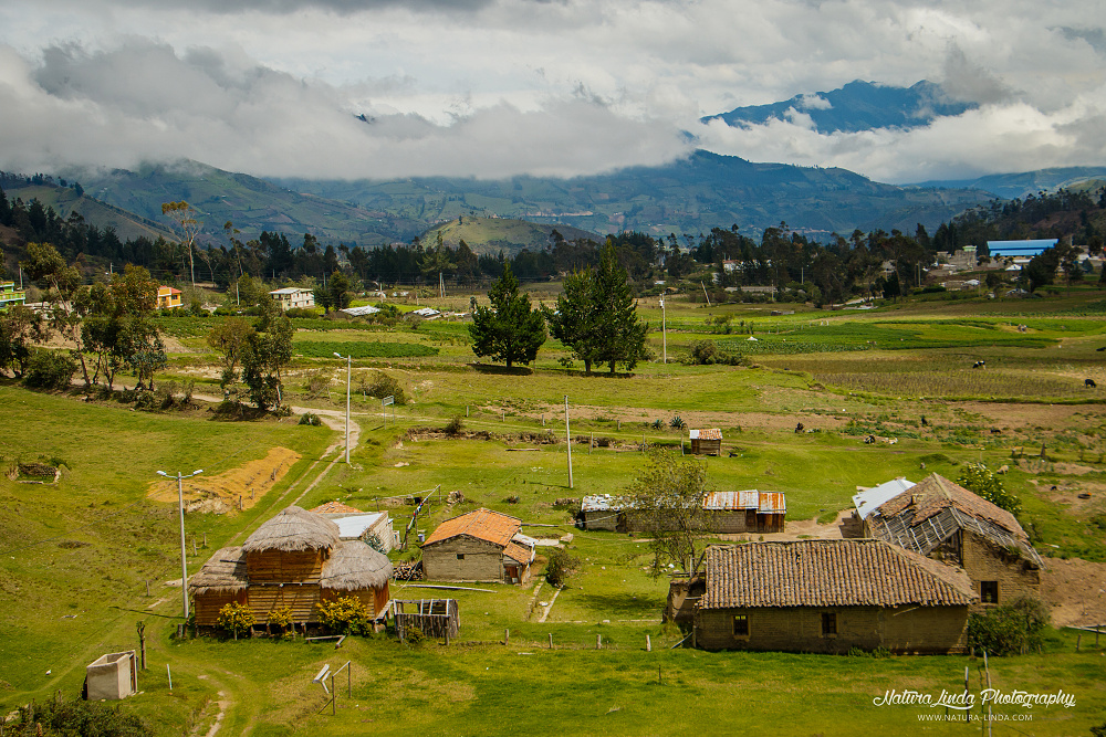 podhorská vesnička Ekvádor
