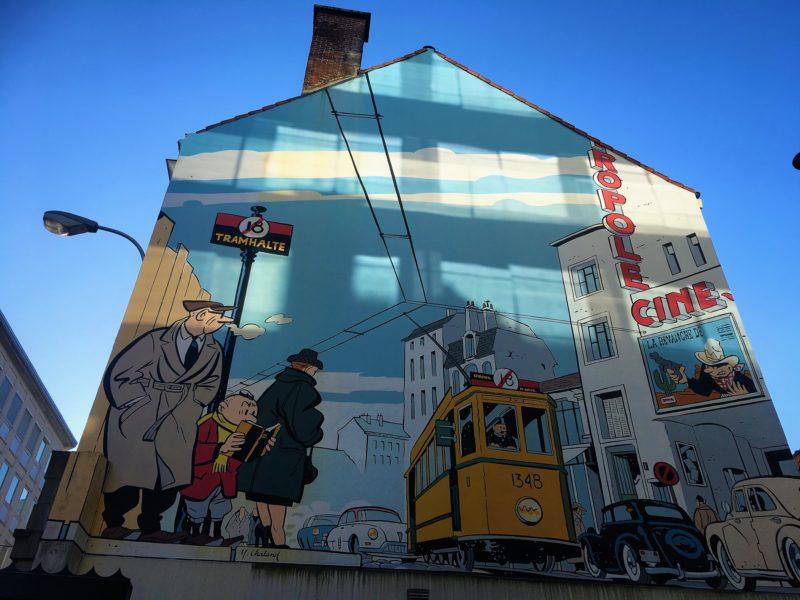 V Bruselu jsou desítky komiksových fasád