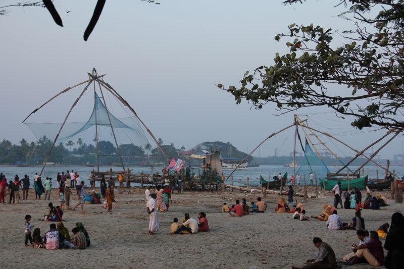Rybářské sítě – Fort Kochi