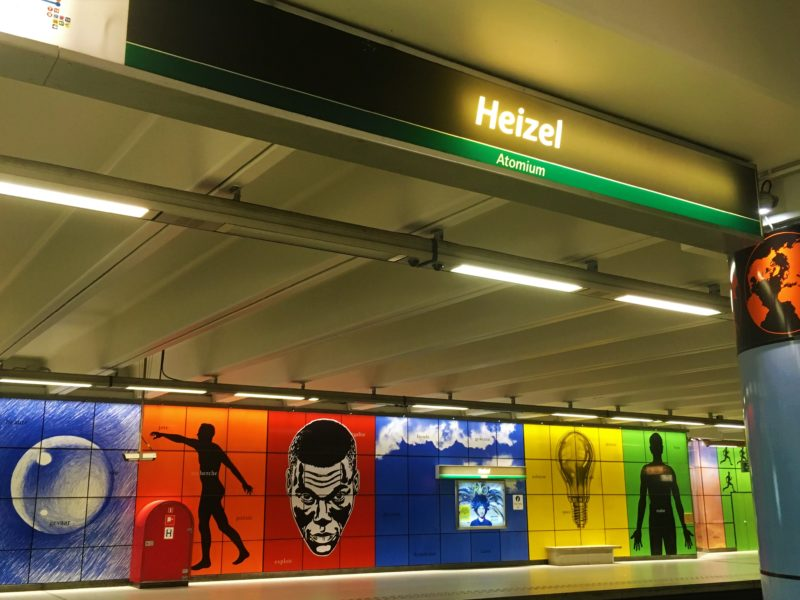 V bruselském metru – stanice Heizel