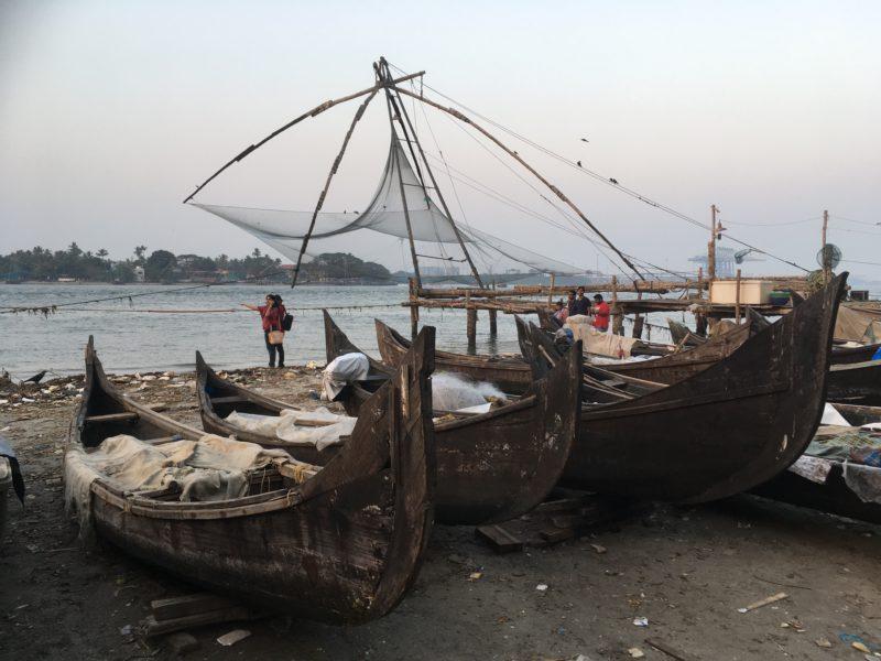 Rybářské sítě - Fort Kochi