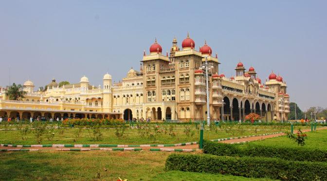 Mahárádžův palác v Mysore, Indie