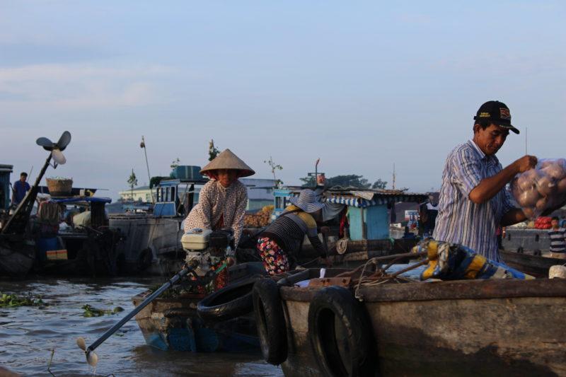 Plovoucí trh v Can Tho