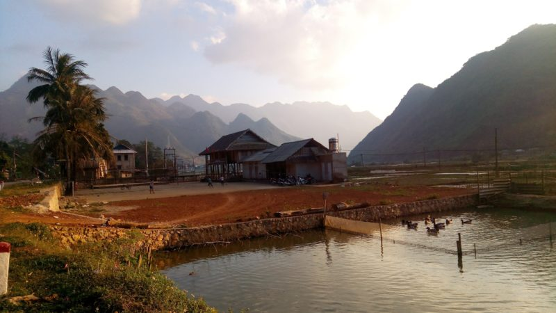 Krásné horské městečko Mai Chau