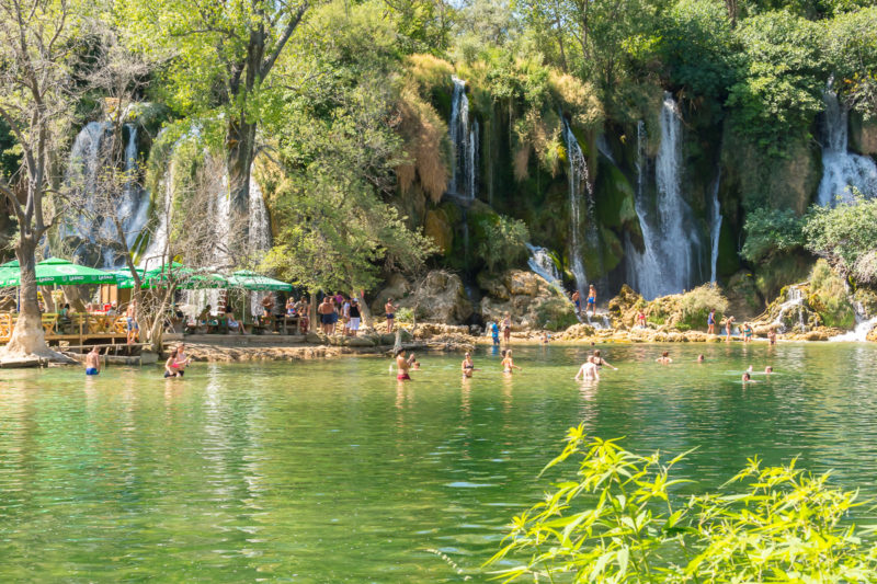 Vodopády Kravica, Bosna a Hercegovina.