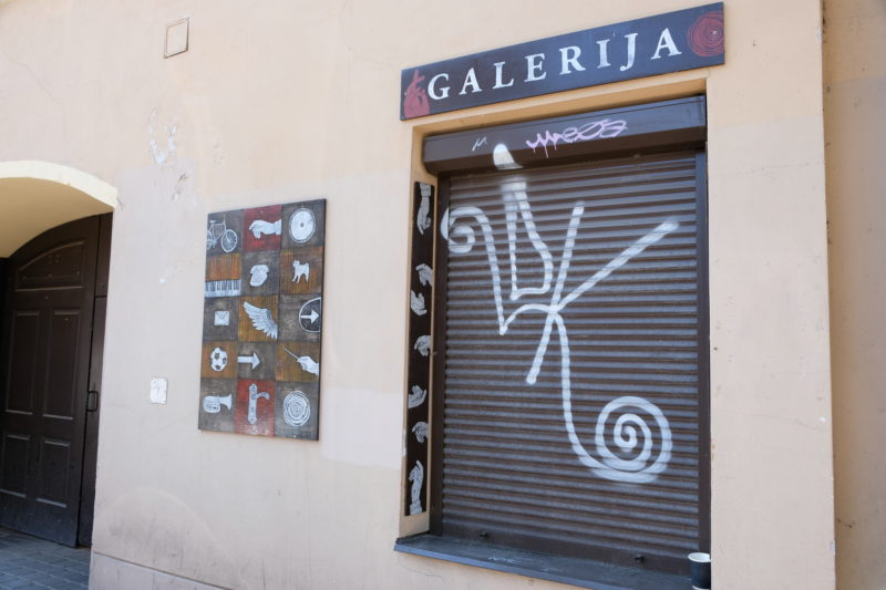 Galerie ve čtvrti Užupis