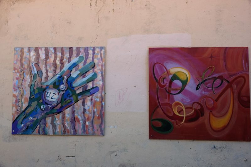 Street art, zde i se symbolem republiky
