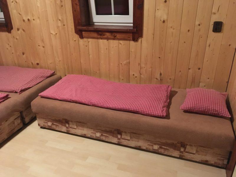 Ve čtyřlůžkovém pokoji, chata Prašivá