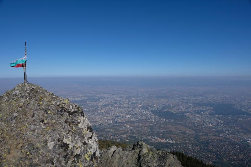 Výhled na Sofii z Kamen Del