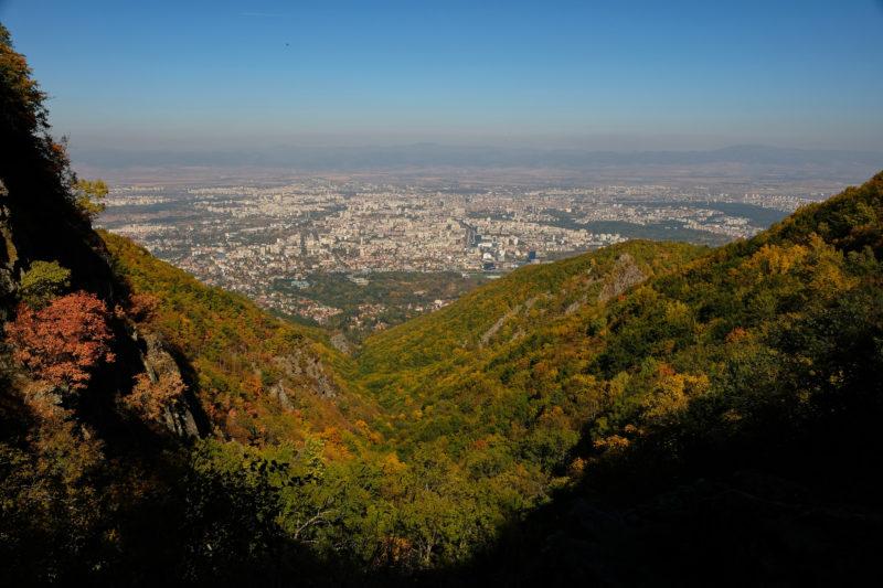Pohled na Sofii (od Bojanského vodopádu)