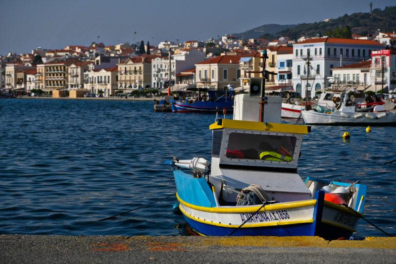 Nábřeží v městě Samos