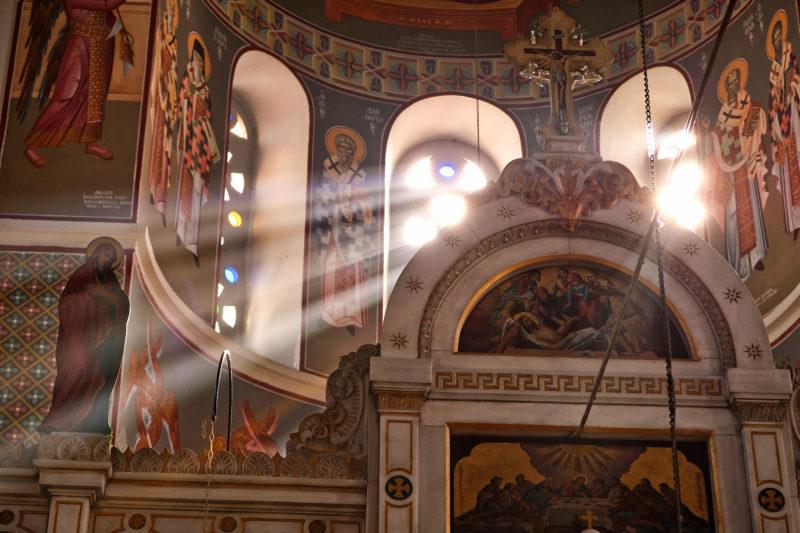 Osvícení – v kostele v Kokkari