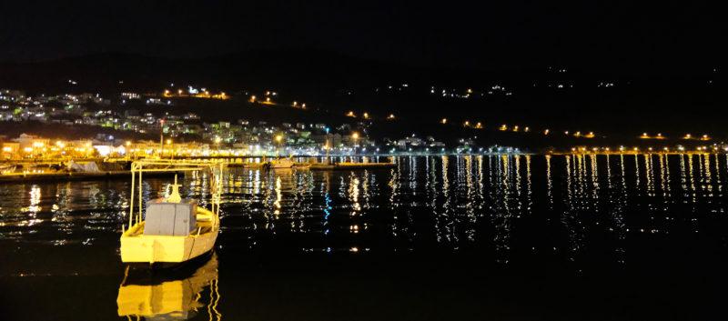 Večer v městě Samos