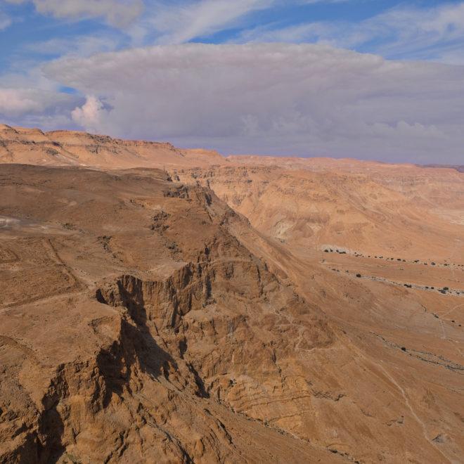 Krajina v okolí pevnosti Masada