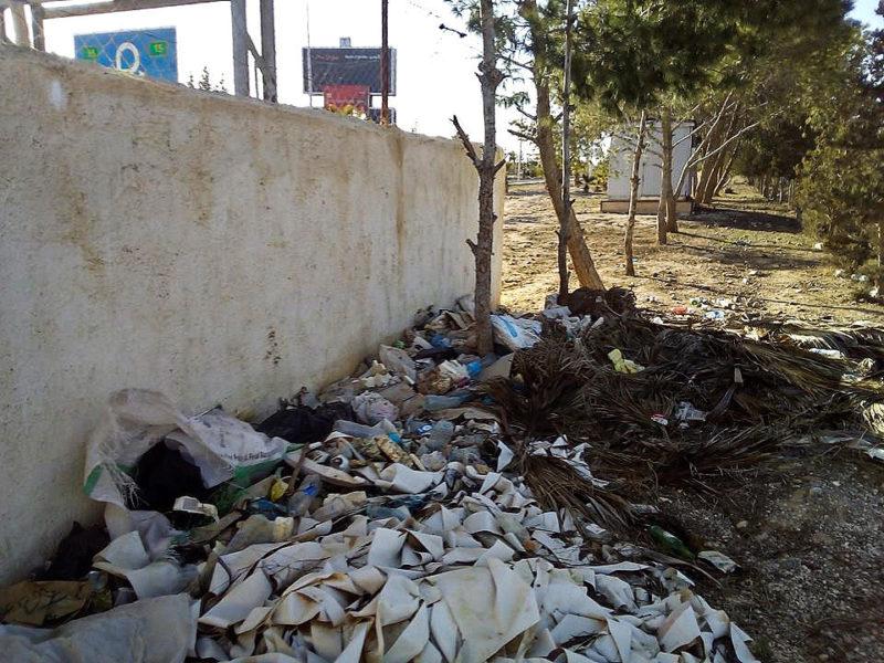 ... mezi odpadky, které zde evidentně nikdo hodně dlouho neuklízel...