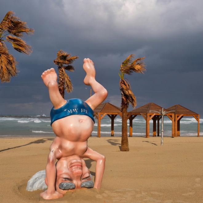 Na pláži v Tel Avivu