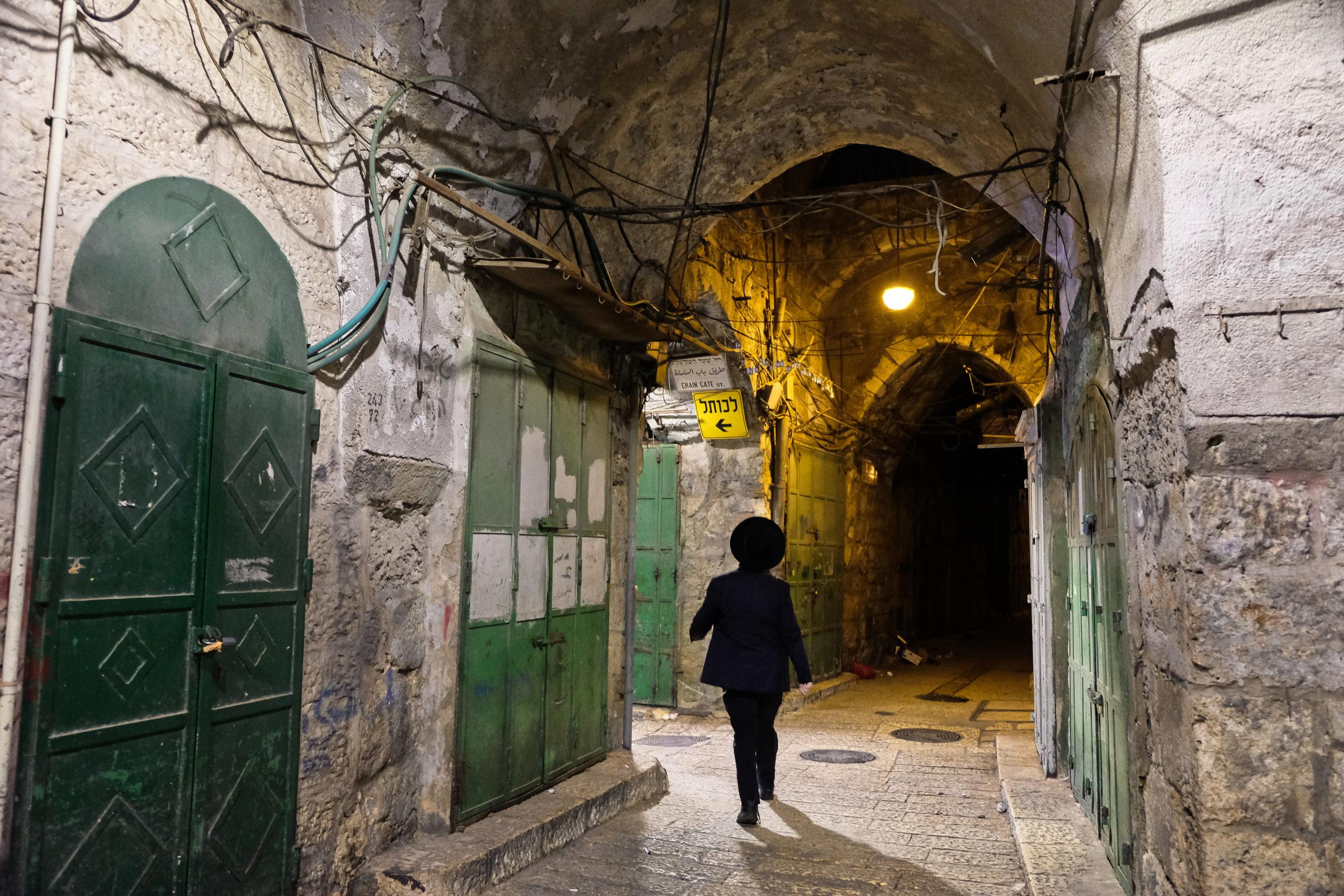 Devátá večerní ve starém Jeruzalémě