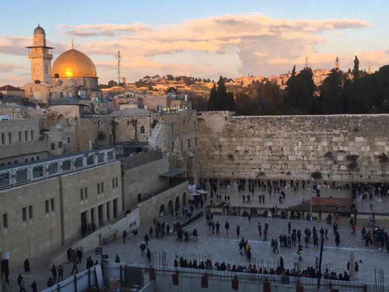 Jeruzalém – jeden z hlavních plánů cesty
