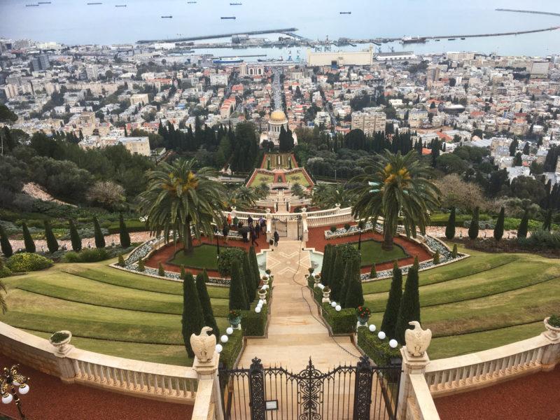 Nejznámější místo v Haifě - terasovité zahrady