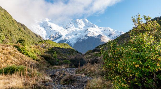 Cesta k nejslavnější horské chatě Nového Zélandu – Mueller Hut
