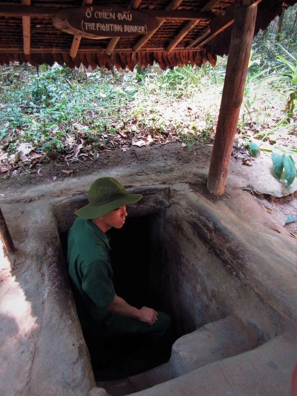 Vstup do bojového bunkru Cu Chi.