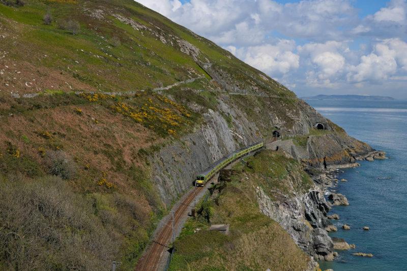 Vlak z Dublinu na jih