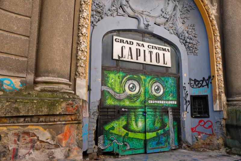Opuštěné kino Capitol