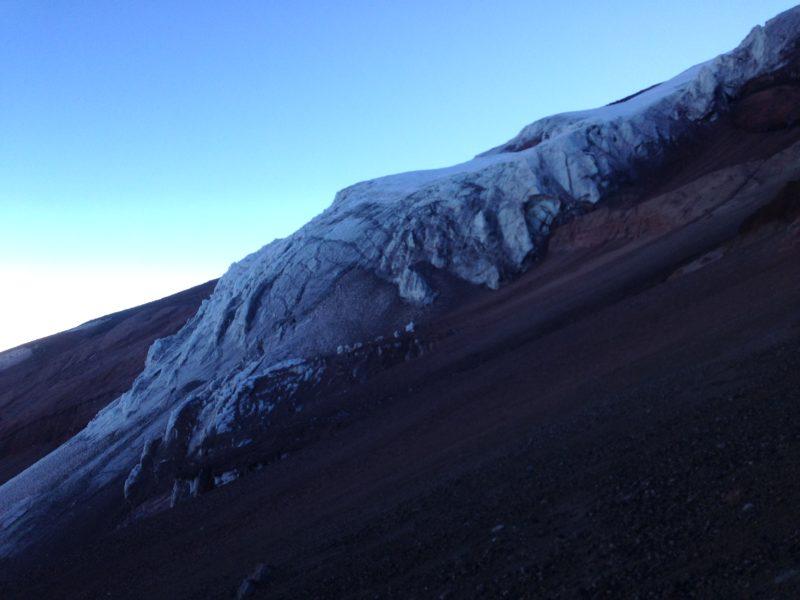 Ledovec na Chimborazu, tady se ještě obchází
