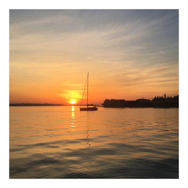 Piran zapad slunce