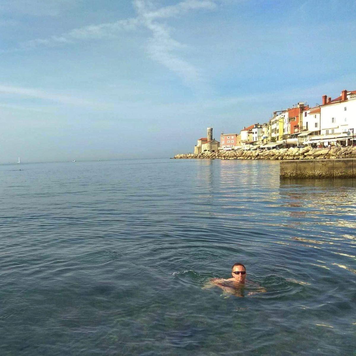 Piran swimming