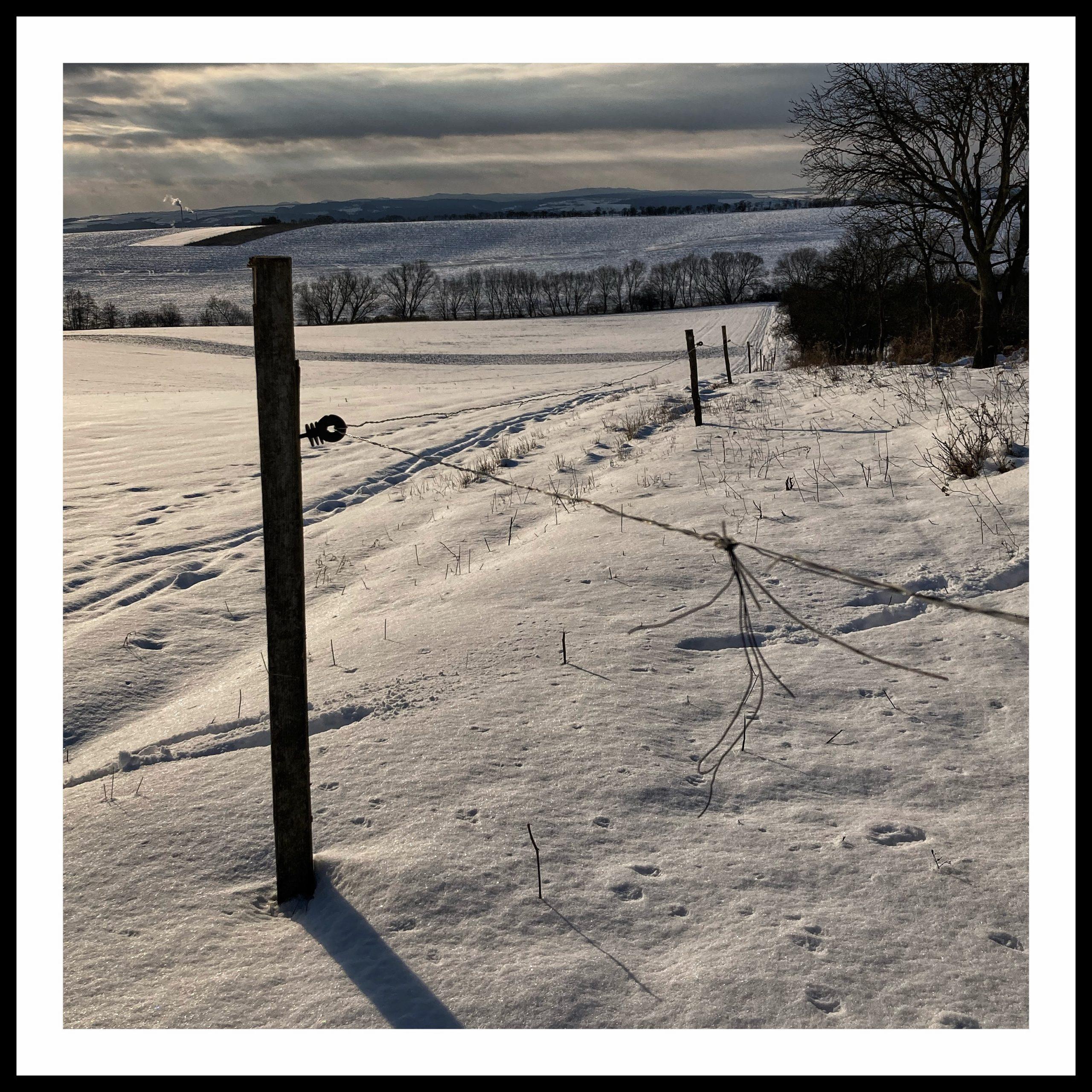 plot v zimě